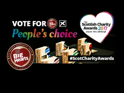 Scottish Charity Awards – 3 days left to vote for Big Hearts!