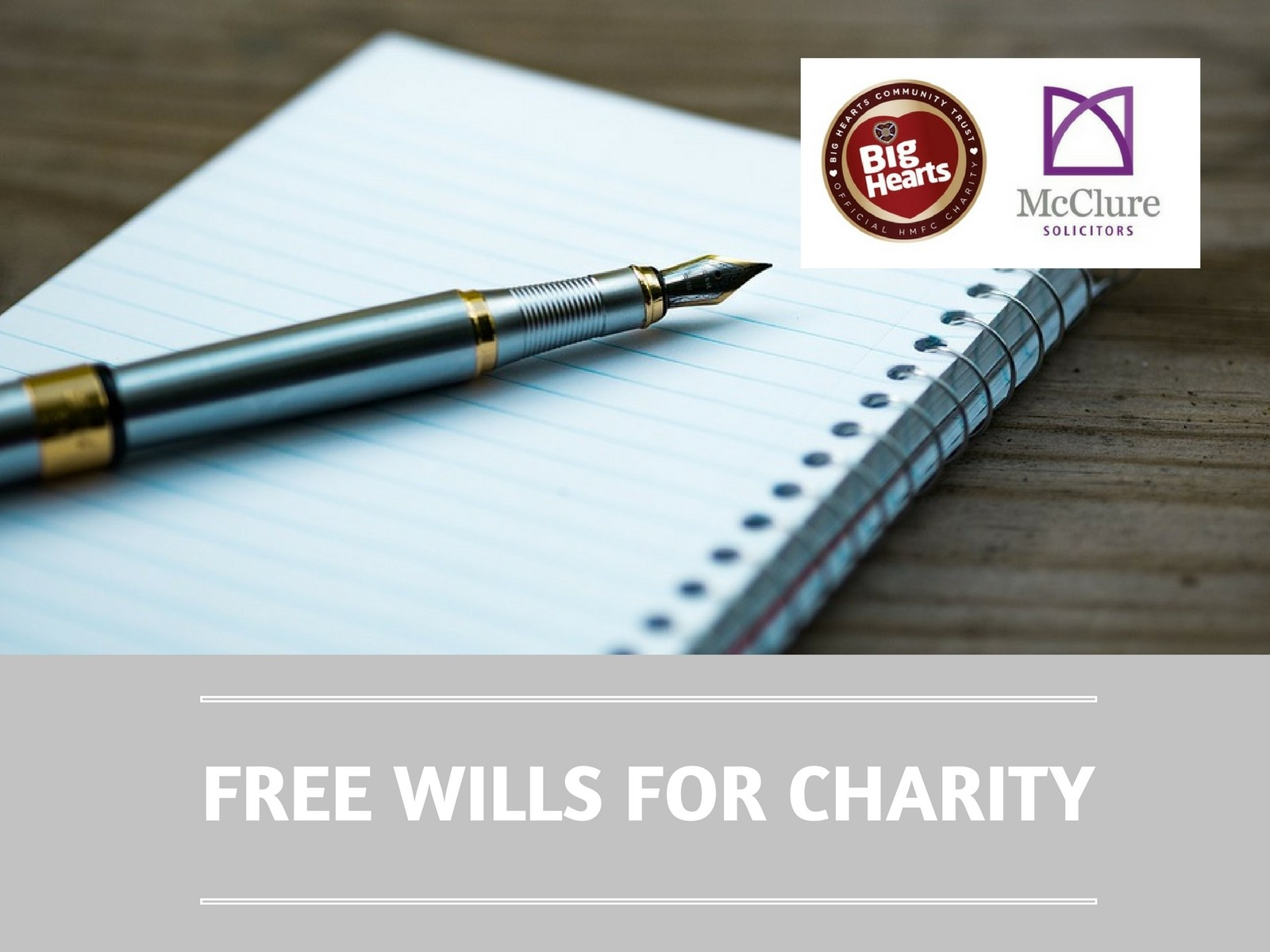 » New fundraising partnership to provide 'Free wills for charity'