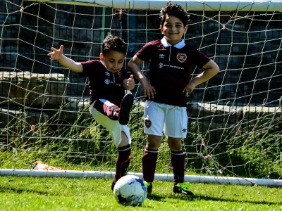 Big Hearts helps Syrian children access community football