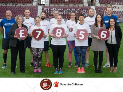 £7,856 raised by Big Hearts & Save the Children's EMF running team!
