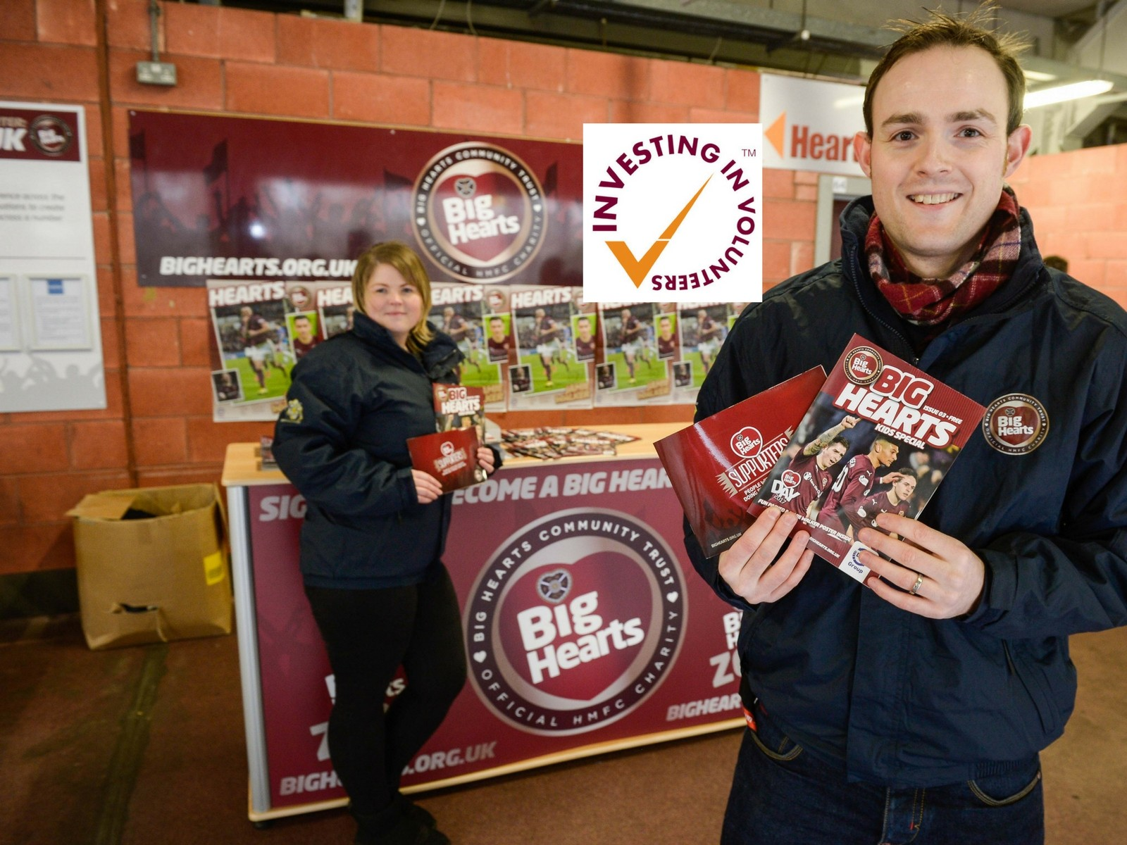 » Big Hearts, 1st charity in Scottish Football receiving the 'Investing in Volunteers' Award!