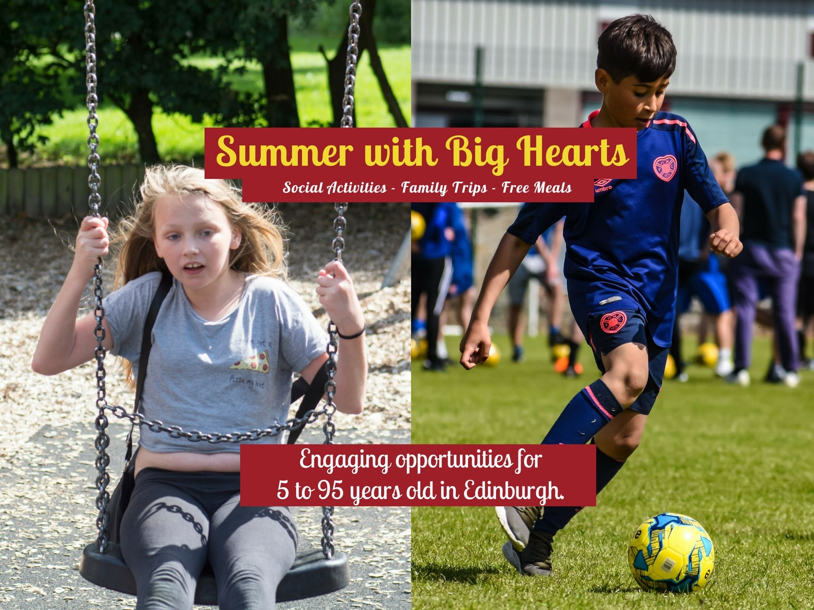 » Summer with Big Hearts: engaging activities for 5 to 95 years old!