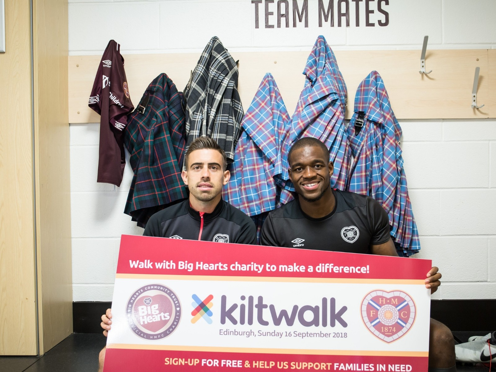 » Olly & Uche back Supporters taking on the Kiltwalk this Sunday