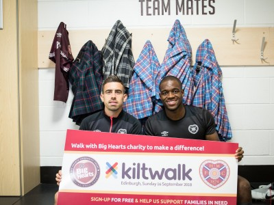 Olly & Uche back Supporters taking on the Kiltwalk this Sunday