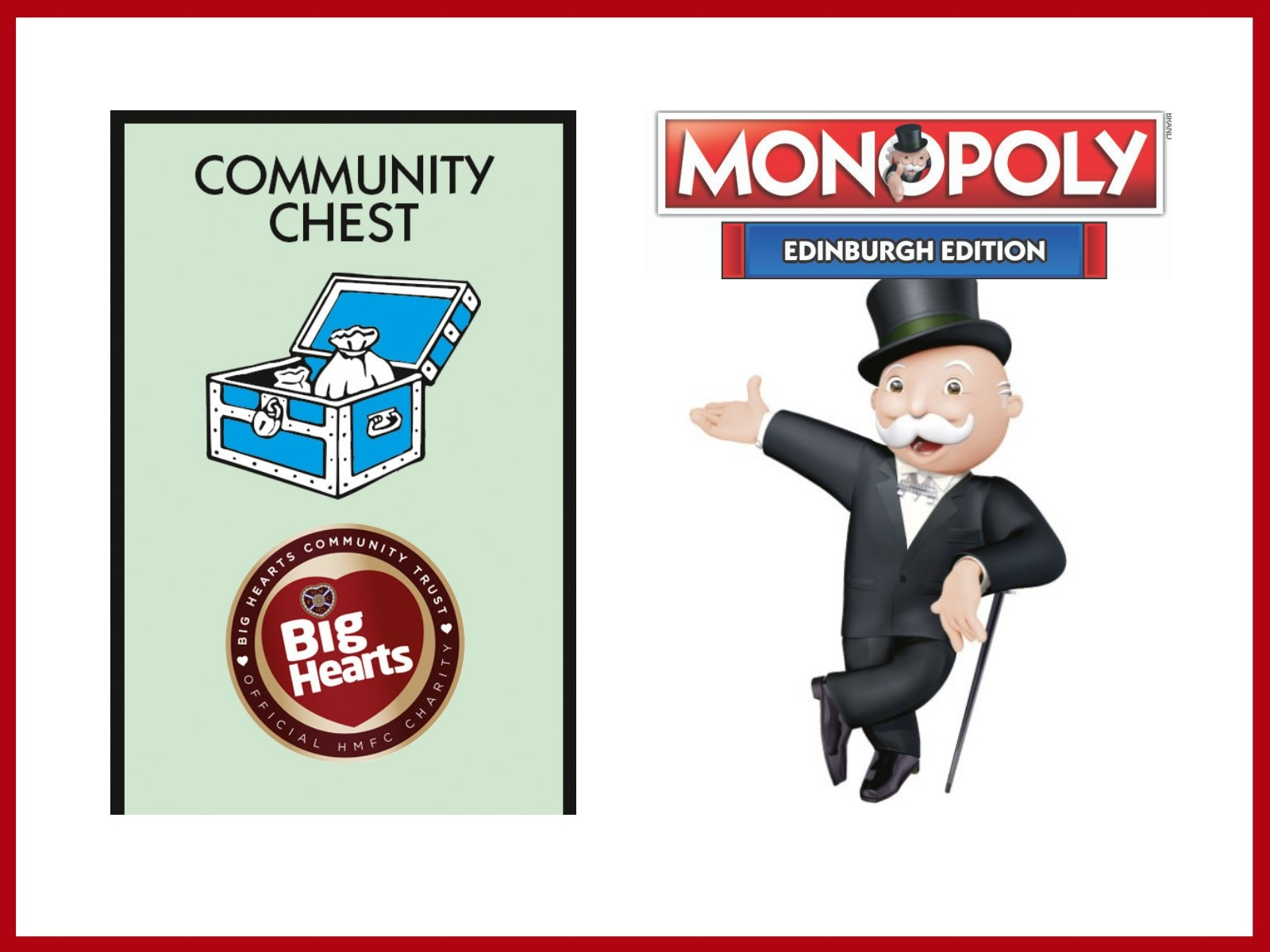 » Big Hearts to feature in the new Edinburgh Monopoly!
