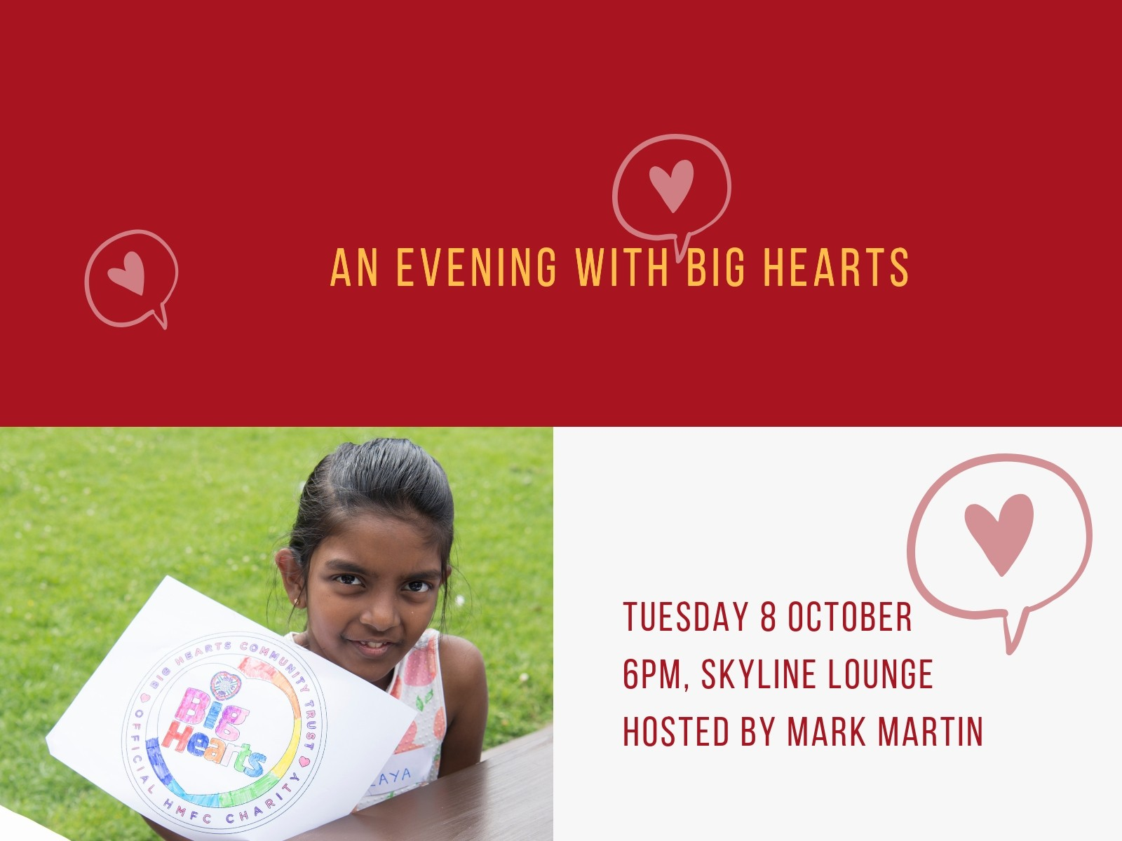» An evening with Big Hearts: Come & join us on 8th October