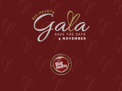 Our 1st Big Hearts Gala announced for Saturday 9th November!
