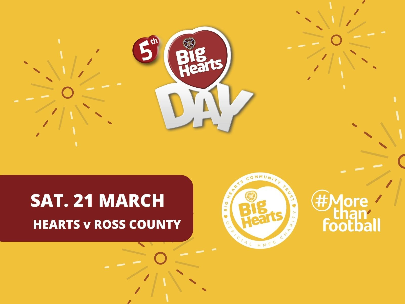 » 5th Big Hearts Day set for game Hearts v Ross County on 21 March