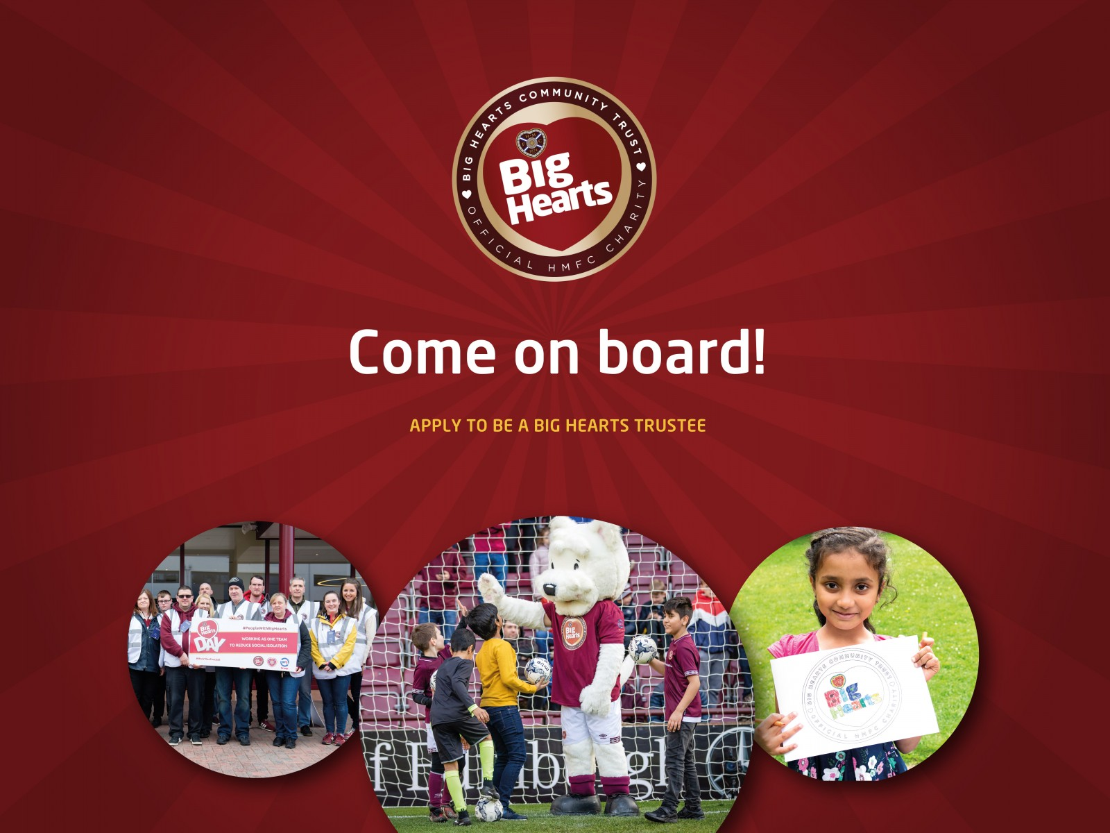 » Come on board – Big Hearts is looking for 2 new Trustees!
