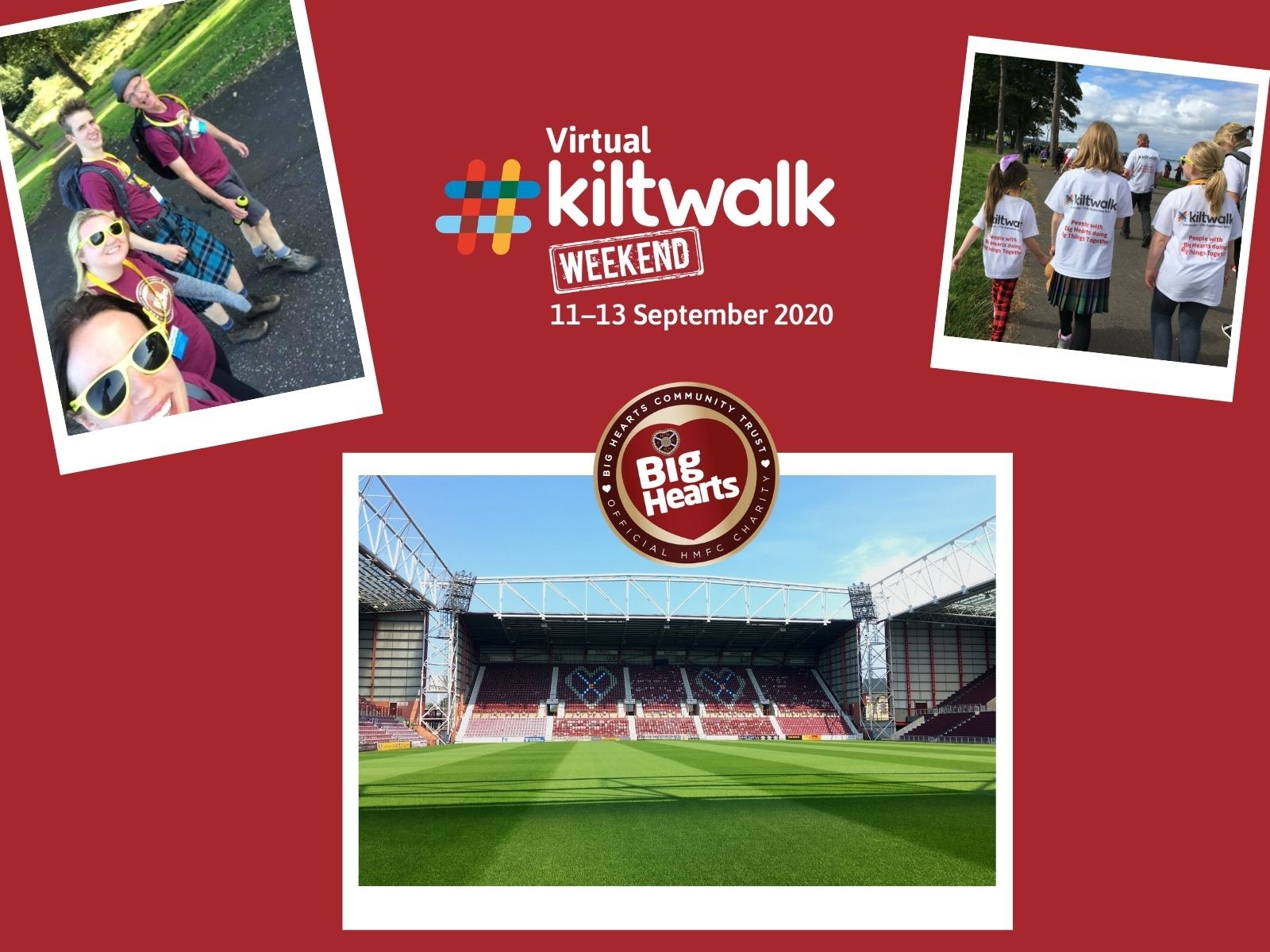» 1 month to go: All the details about our Big Hearts Kiltwalk 2020!