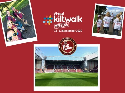 1 month to go: All the details about our Big Hearts Kiltwalk 2020!
