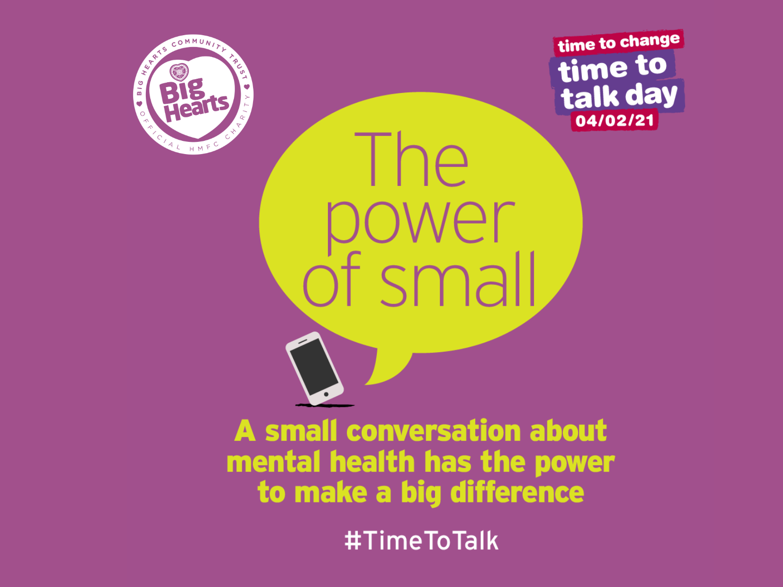 » Time to talk day: the power of small