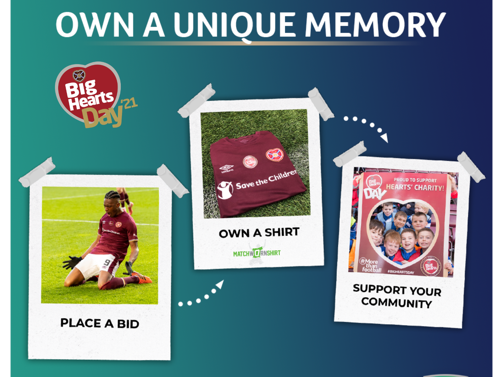 » Big Hearts Day match worn shirts up for auction!  #MoreThanFootball